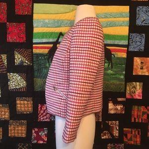 Halogen Jackets & Coats - NWT Halogen Pink Yellow Geo Tweed Blazer XXSP